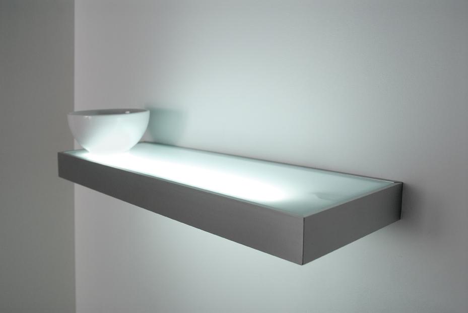 Illuminated Wall Shelf with Light 929 x 622