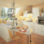 Decor Cream Contemporary Kitchen at Anne Wright Kitchens, Colchester, Essex