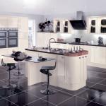White Contemporary Kitchen at Anne Wright Kitchens, Colchester, Essex