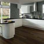 Integra Gloss White Contemporary Kitchen at Anne Wright Kitchens, Colchester, Essex