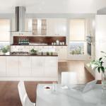 Stylish White Contemporary Kitchen at Anne Wright Kitchens, Colchester, Essex