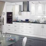 Riveriera White budget Eco Kitchen, Anne Wright Kitchens, Colchester, Essex