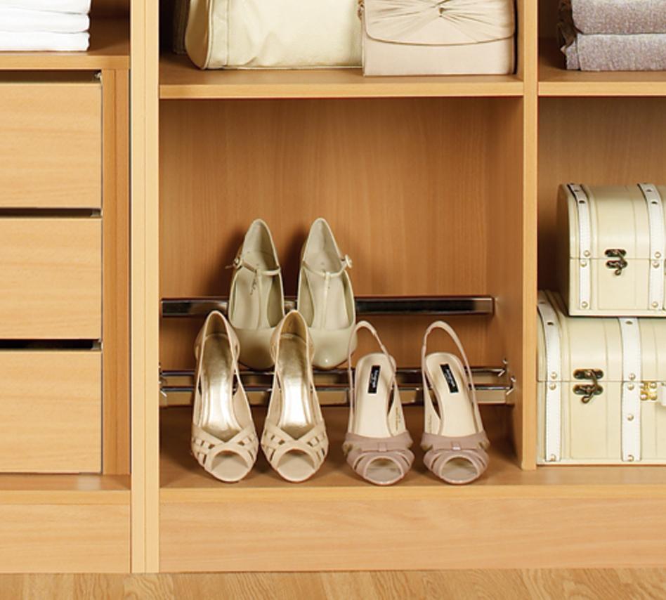 Shoe rack anne wright interiors ltd for Rack design for bedroom